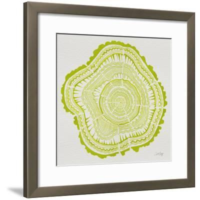 Tree Rings Lime-Cat Coquillette-Framed Giclee Print