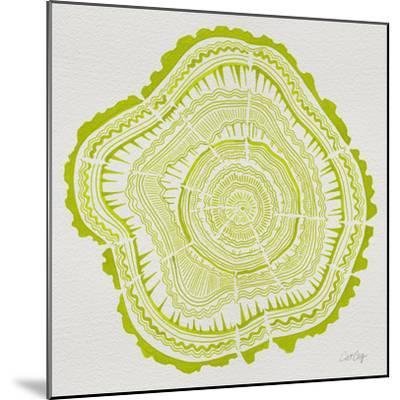 Tree Rings Lime-Cat Coquillette-Mounted Giclee Print