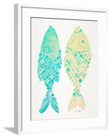 Turquoise Cream Indonesian Fish-Cat Coquillette-Framed Giclee Print