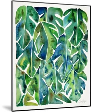Green Philodendron-Cat Coquillette-Mounted Giclee Print