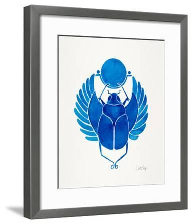 Navy Scarab-Cat Coquillette-Framed Giclee Print