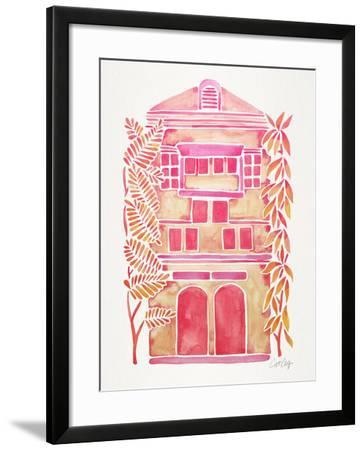 Pink House-Cat Coquillette-Framed Giclee Print