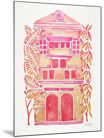 Pink House-Cat Coquillette-Mounted Giclee Print