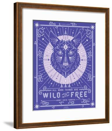 Periwinkle Wolf-Cat Coquillette-Framed Giclee Print