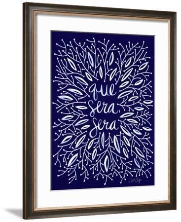 Que Sera Sera Navy-Cat Coquillette-Framed Giclee Print