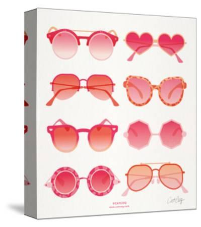 Pink Sunglasses-Cat Coquillette-Stretched Canvas Print