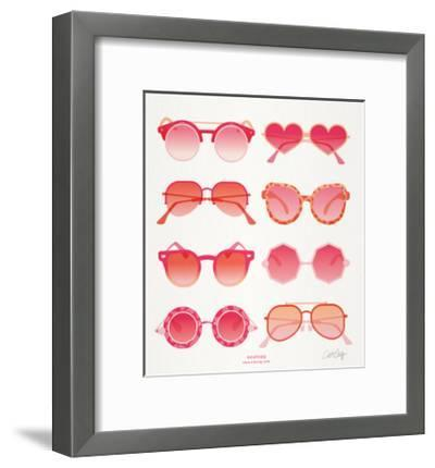 Pink Sunglasses-Cat Coquillette-Framed Giclee Print