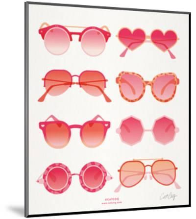 Pink Sunglasses-Cat Coquillette-Mounted Giclee Print