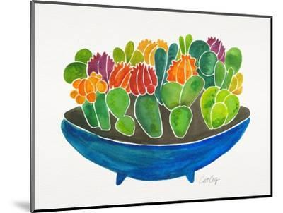 Succulents-Cat Coquillette-Mounted Giclee Print