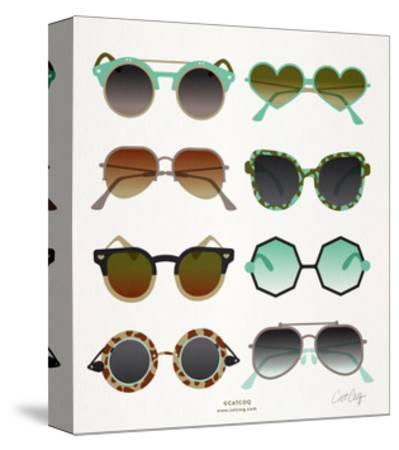 Mint Tan Sunglasses-Cat Coquillette-Stretched Canvas Print