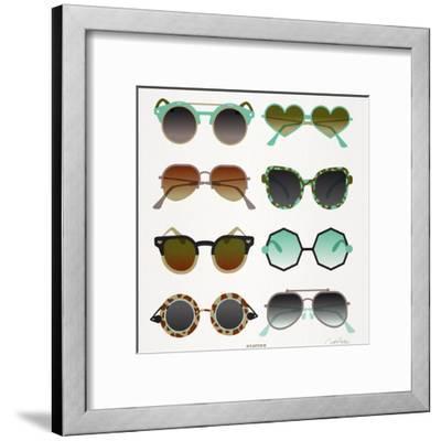 Mint Tan Sunglasses-Cat Coquillette-Framed Premium Giclee Print
