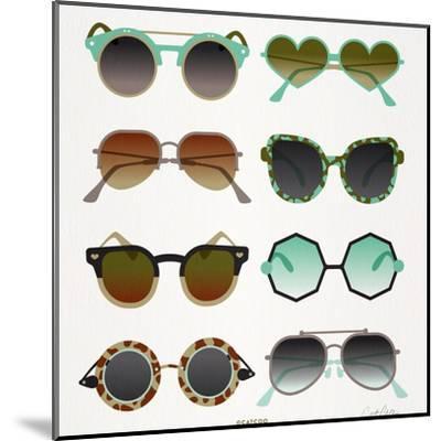 Mint Tan Sunglasses-Cat Coquillette-Mounted Premium Giclee Print