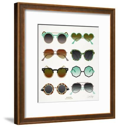 Mint Tan Sunglasses-Cat Coquillette-Framed Giclee Print