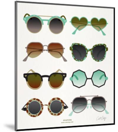 Mint Tan Sunglasses-Cat Coquillette-Mounted Giclee Print