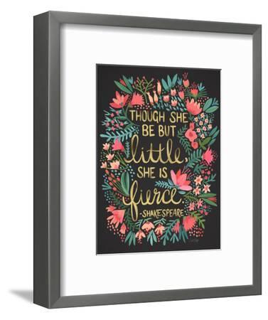 Little Fierce Charcoal-Cat Coquillette-Framed Premium Giclee Print