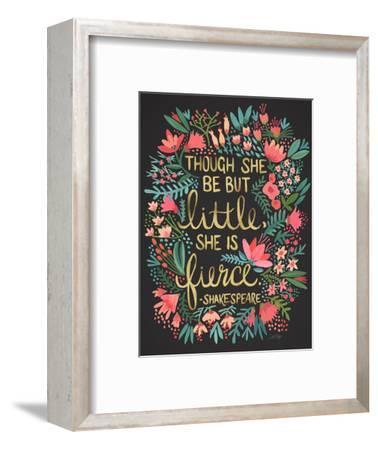 Little Fierce Charcoal-Cat Coquillette-Framed Giclee Print