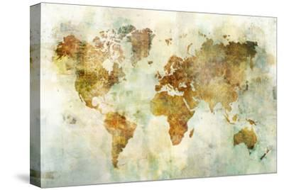 Global Patterned Map-Ken Roko-Stretched Canvas Print