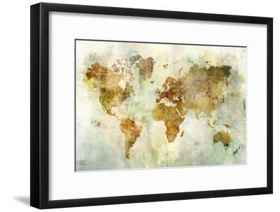 Global Patterned Map-Ken Roko-Framed Art Print