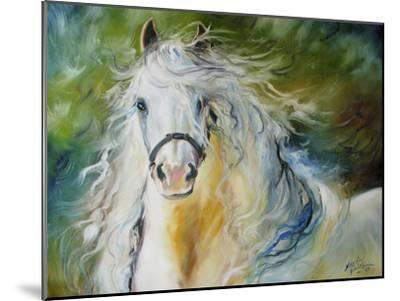 White Cloud the Andlusian Stallion-Marcia Baldwin-Mounted Premium Giclee Print
