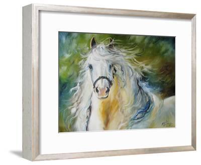 White Cloud the Andlusian Stallion-Marcia Baldwin-Framed Premium Giclee Print