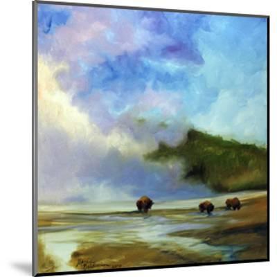 Yellowstone Buffalo Landscape-Marcia Baldwin-Mounted Art Print