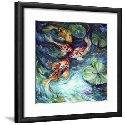 Dancing Colors Koi-Marcia Baldwin-Framed Art Print