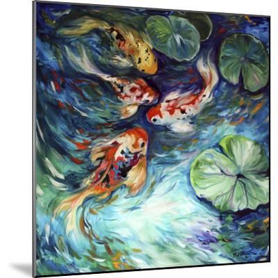Dancing Colors Koi-Marcia Baldwin-Mounted Art Print