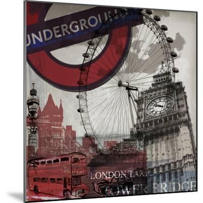London Underground-Sidney Paul & Co.-Mounted Art Print