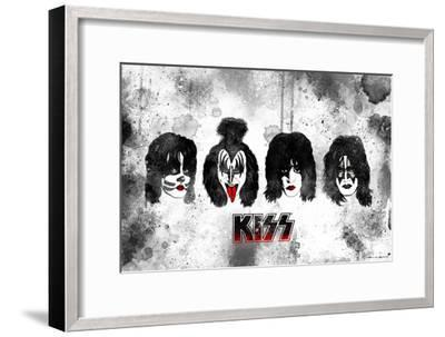 KISS Watercolor--Framed Premium Giclee Print