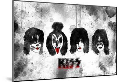 KISS Watercolor--Mounted Premium Giclee Print