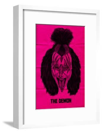 KISS - The Demon (Pink)--Framed Premium Giclee Print