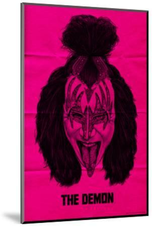 KISS - The Demon (Pink)--Mounted Premium Giclee Print