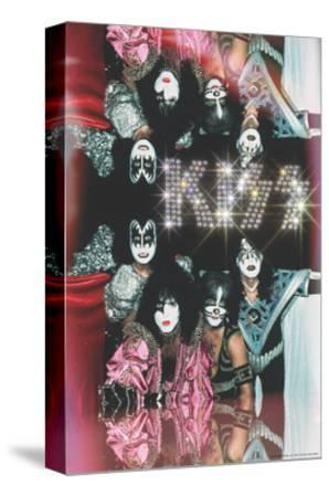 KISS - Glam with Diamonds--Stretched Canvas Print