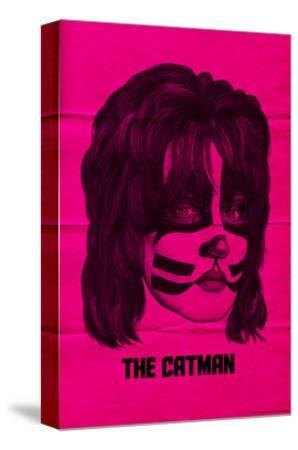 KISS - The Catman (Pink)--Stretched Canvas Print