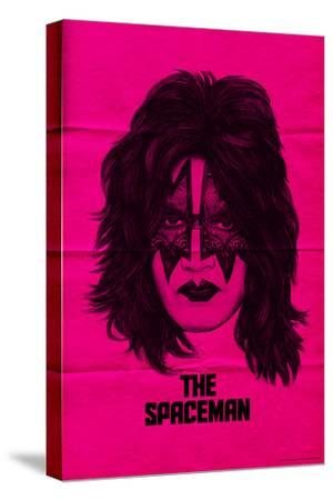 KISS - The Spaceman (Pink)--Stretched Canvas Print