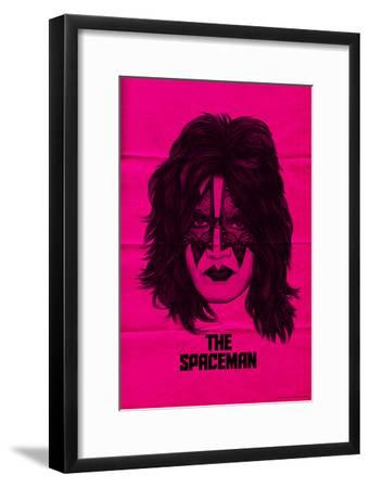 KISS - The Spaceman (Pink)--Framed Premium Giclee Print