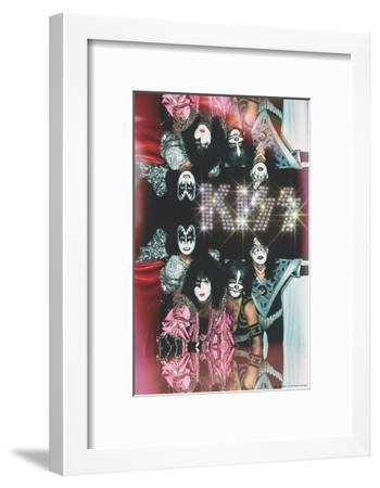 KISS - Glam with Diamonds--Framed Premium Giclee Print