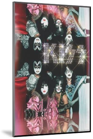 KISS - Glam with Diamonds--Mounted Premium Giclee Print