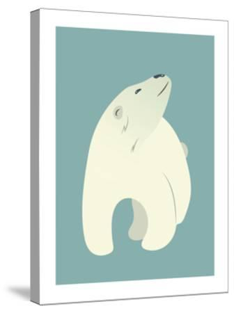 Polar Bear Print-Kindred Sol Collective-Stretched Canvas Print