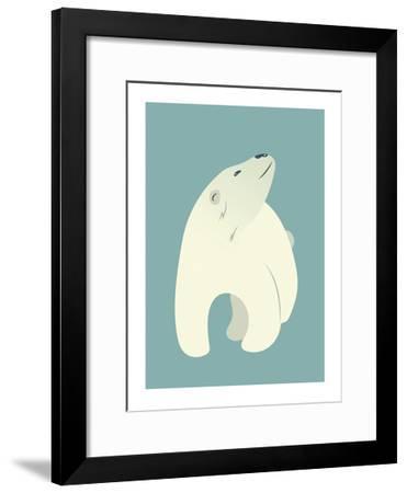 Polar Bear Print-Kindred Sol Collective-Framed Art Print