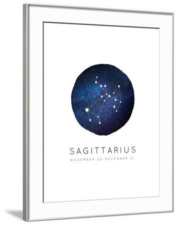 Sagittarius Zodiac Constellation-Kindred Sol Collective-Framed Art Print