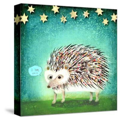 Porcupine for Thomas-Judy Verhoeven-Stretched Canvas Print