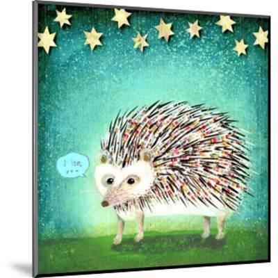 Porcupine for Thomas-Judy Verhoeven-Mounted Art Print