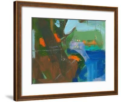 Blue Pool Fragment 3-Angela Saxon-Framed Art Print