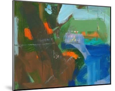 Blue Pool Fragment 3-Angela Saxon-Mounted Art Print