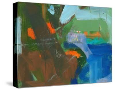 Blue Pool Fragment 3-Angela Saxon-Stretched Canvas Print