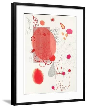 Funny Bunny Makes an Appearance-Maggie Kleinpeter-Framed Art Print