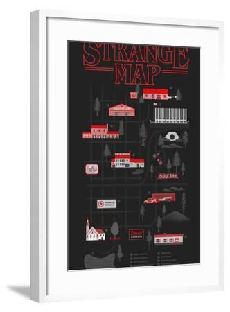 Strange Map-Robert Farkas-Framed Art Print