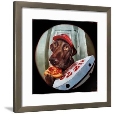 Pupperoni-Lucia Heffernan-Framed Art Print