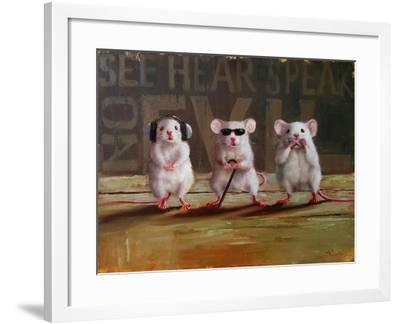 Three Wise Mice-Lucia Heffernan-Framed Art Print
